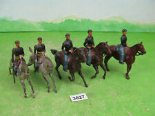 vintage britains lead soldiers mounted acw union lot 3027