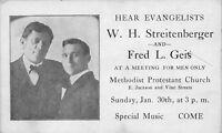 Cincinnati (Avondale) OH Streitenberger & Geis~ Meth Protestant Evangelists 1910