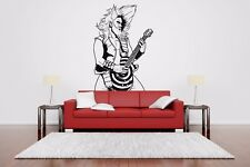Wall Room Decor Art Vinyl Sticker Mural Decal Rock Star Guitar Player AS2526