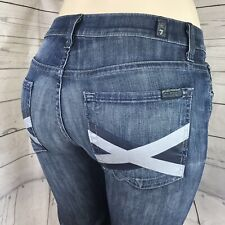 7 Seven For All Mankind High Waist BootCut Distressed Denim Jeans Size 27 x 34