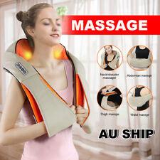 Massager Vibrator Back Neck Body Shiatsu Deep Knead Cushion Shoulder Wrap Car