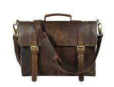 15x11 Hunter Leder Aktentasche Laptop Umhängetasche Businesstasche Messenger Bag