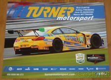 2016 Turner Motorsport #96 BMW M6 GT3 GTD Rolex 24 IMSA WTSC postcard