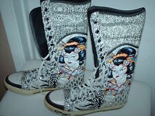 Don Ed Hardy Women's Shins High Sneaker/Boot Shoes - Size 8