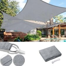 Sun Shade Sail Outdoor Canopy Top Cover Triangle Square Rectangle UV Block Grey