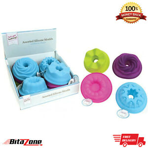 Silicone Mould Assorted Chocolate Tray Sweets Butter Jelly Pudding Cake Tin Pan