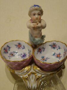 Splendide et ancienne céramique chérubin XIXème porcelaine de Saxe Meissen ?