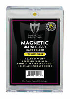 25 Max Pro Ultra One Premium Magnetic UV 100pt Black Label Touch Card Holders