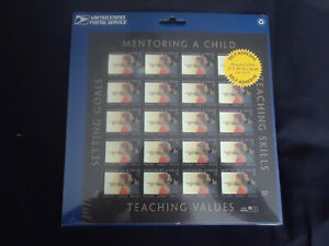 NEW USPS Mentoring a Child stamps still on the card 20 34 cent- Values, Goals &