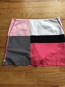 Golftini Skort Pink/Black Womens Size 12 Golf A3