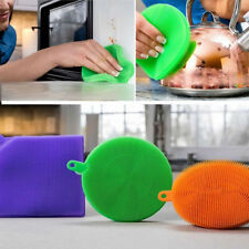 3Pcs Cleaning Brush Mat Dishwashing Silicon Mildew Sponges Kitchenware Tools New