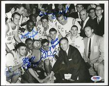 John Wooden & Co Multi-Signed UCLA 8x10 B&W Photo PSA/DNA Certified (61)