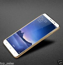 Ultra Slim Crystal Clear GOLD Plated Rubber Back Soft TPU Case For XiaoMi Note 3