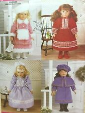 """UNCUT 1998 Butterick 5864 SEWING PATTERN 18"""" Doll Historical Clothing CRAFT"""