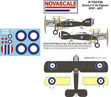 AFC Bristol F.2B WWI Mini-Set Decals 1/72 Scale N72072b