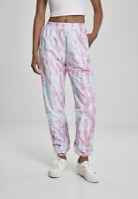 Urban Classics Damen Hose Ladies Tie Dye Track Pants Aqua Blue/Pink