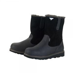 Hey Dude Vigo Ladies Easy Life Slip On Black Leather Winter Boots