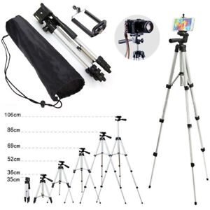 Professional Camera Tripod Stand With Phone Clip Aluminum Tripod Stand For Phone
