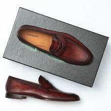 Magnanni Tacio Cognac Brown Leather Penny Loafers - Men's 9 M