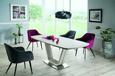 """""""ARMANI"""" Grey & Ceramic Marble Top Extending Dining Table 160-220 cm"""