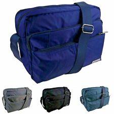 Unisex Lorenz Nylon Cross Body Bag Shoulder Bag Black, Navy, Grey and Dark Teal