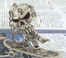 FD665 Skateboard Skull Gothic Creative Purse Bag Rubber KeyChain Keyring Gift$