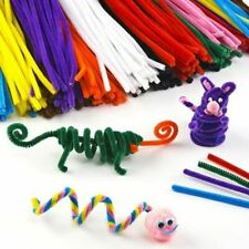100pcs Multi-colored Plush Chenille Stems Pipe Cleaners Toys Kids Education