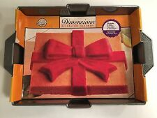 Wilton 2105-5027 Dimensions Holiday Gift Present Cake Pan New Discontinued