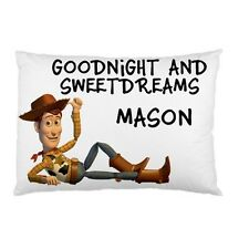 SHERIFF WOODY Toy Story Personalized childrens kids bed pillow case