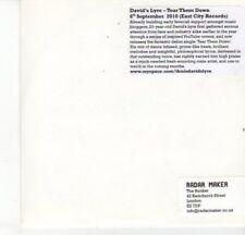(DJ652) David's Lyre, Tear Them Down - 2010 DJ CD