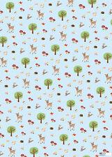 *Exclusives*Geschenkpapier 50 x 70cm*woodland animals*Bambi*Waldtiere*