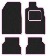 Audi 90 92- Super Velour Black/Pink Trim Car mat set