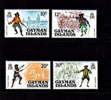 CAYMAN ISLANDS - 1975 - PIRATES - SHIPS - COMPLETE - MINT - MNH SET OF 4!
