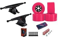 "Cal 7 Longboard 10.75"" Axle Truck Bearing 83mm Pink Skateboard Wheels"