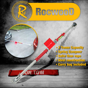 Towing Pole Tow Bar 2 Tonne Recovery Spring Loaded Damper Car Van