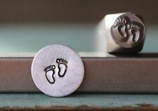 SUPPLY GUY 6mm Baby Feet Metal Punch Design Stamp SGCH-138