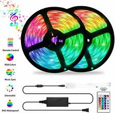 LED Strip Lights Sync to Music, 32.8ft 300LED Flexible RGB 5050 Color Changing
