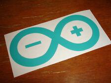 Arduino Vinyl Laptop Sticker - Turquoise - Opensource Openhardware Linux