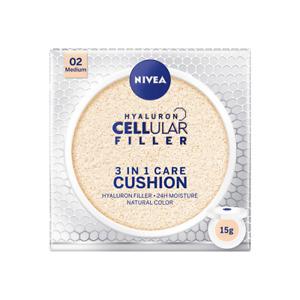 Nivea Cellular Filler 3in1 Care Cushion Hyaluron Moisture 02 Medium SPF 15