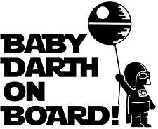 Star Wars Baby Darth On Board Vinyl Decal Sticker for Car Van Laptop Tablet Wall