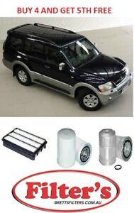 MITSUBISHI PAJERO NM NP 3.2L 4M41  TURBO DIESEL AIR OIL FUEL FILTER SERVICE KIT