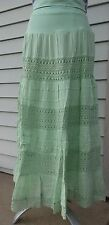 Cute options casual mint green lace peasant skirt Size Medium