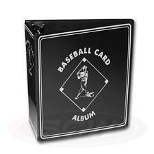 "1 BCW 3"" Black Baseball Card Storage D-Ring Album Binder Book Display Protect"