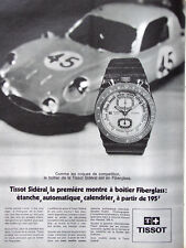 PUBLICITÉ DE PRESSE 1970 TISSOT SIDÉRAL MONTRE A BOITIER FIBERGLASS ÉTANCHE