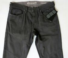 Guess Men Jeans 36 W x 33 Slim Tapered Grey Gray Waxed Finish Brand New w/ Tags