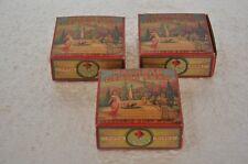 3 Pc Vintage Malabar Glory Soap Ad Litho Paper Box