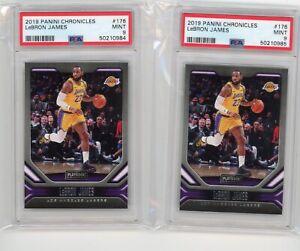 (2) Card Lot 2019-20 Chronicles LEBRON JAMES Playbook #176 Lakers MINT PSA 9