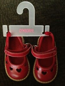 Shoes Gymboree RED Leather Mary Jane  Size 0-3 mos NEW