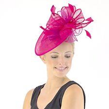 Jendi Ladies Hot PINK Formal Spring Racing Oaks Day Fascinator Headband Races