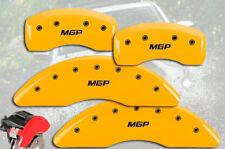 "2014-2019 Toyota Highlander Front + Rear Yellow ""MGP"" Brake Disc Caliper Covers"